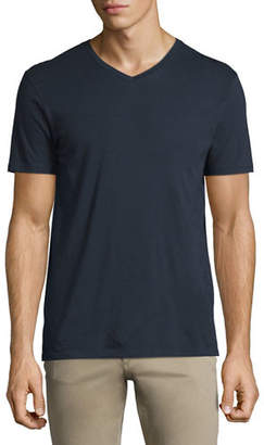 Vince Short-Sleeve V-Neck Pima Jersey T-Shirt
