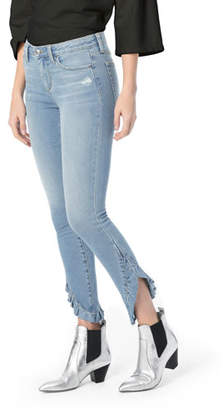 Joe's Jeans The Icon Skinny-Leg Ankle Jeans w/ Ruffle Hem