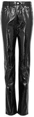 Helmut Lang Black Patent Leather Trousers