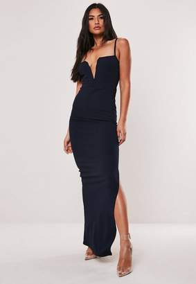 Missguided Strappy Notch Detail Maxi Dress
