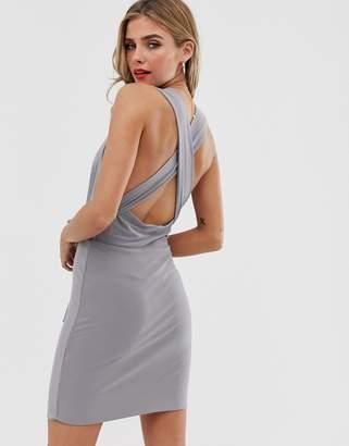 Love cross over back mini dress