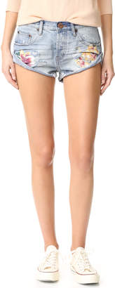 One Teaspoon Orchid Bandit Shorts $130 thestylecure.com