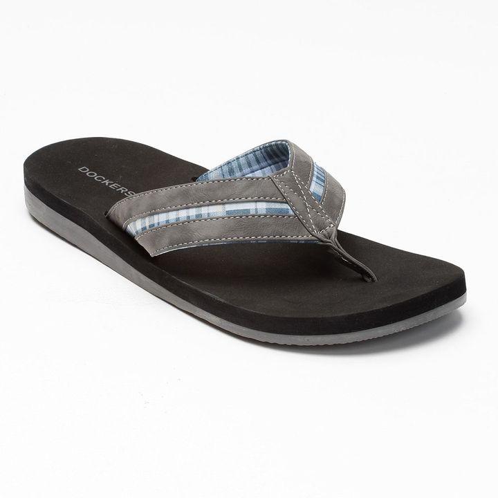 Dockers plaid flip-flops - men