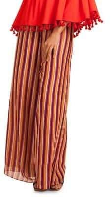 Trina Turk California Dreaming Parsley Striped Wide-Leg Pants