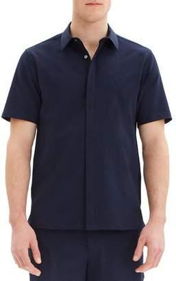 Theory Men's Irving Crushed Seersucker Short-Sleeve Sport Shirt