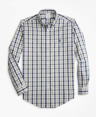 Brooks Brothers Non-Iron Regent Fit Brushed Plaid Sport Shirt