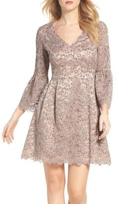 Women's Eliza J Lace Fit & Flare Dress $158 thestylecure.com