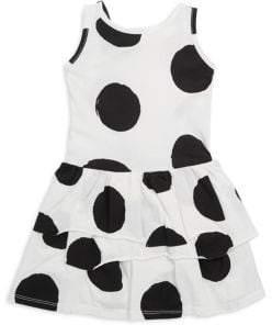 Joah Love Toddler's, Little Girl's& Girl's Ruffled Polka Dots Cotton Dress