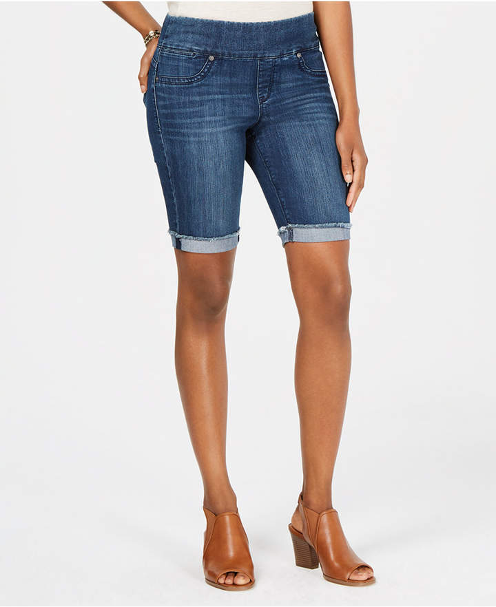 Style & Co Petite Ella Pull-On Denim Bermuda Shorts, Created for Macy's