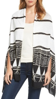 Women's Nic+Zoe Wild Things Poncho Cardigan $128 thestylecure.com