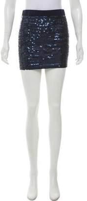 Elizabeth and James Sequin Mini Skirt