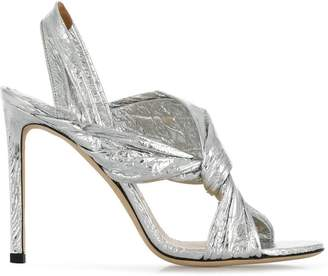 Jimmy Choo silver Lalia 100 sandals