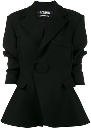 Jacquemus oversized single breasted blazer $960 thestylecure.com