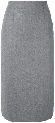 Olympia Le-Tan Embroidered flannel Constance skirt