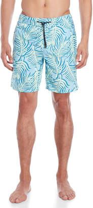 Surfside Supply Leaf Shadow Print Volley Swim Shorts