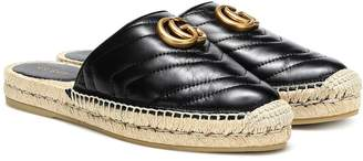 Gucci Marmont leather espadrille mules