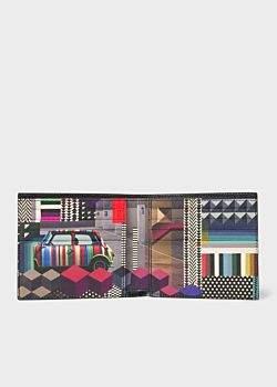 Paul Smith Men's Black 'Geometric Mini' Interior Saffiano Leather Billfold Wallet