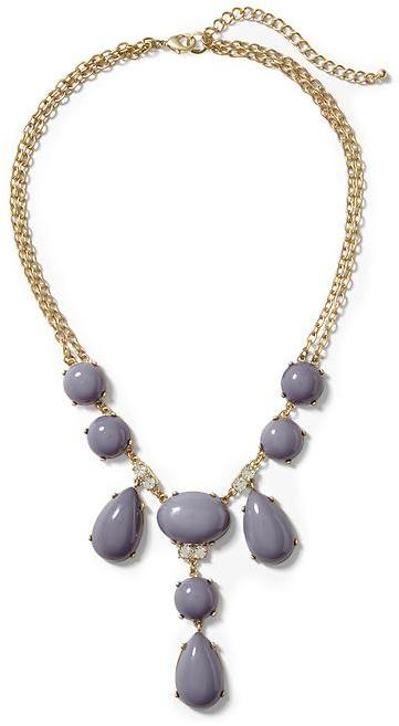 Pim + Larkin Grey Cabochon Statement Necklace