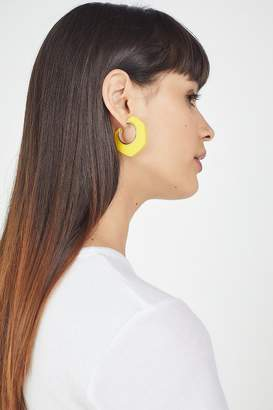 Urban Outfitters Dahlia Wood Hoop Earring