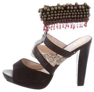 House Of Harlow Embellished Ankle Strap Sandals