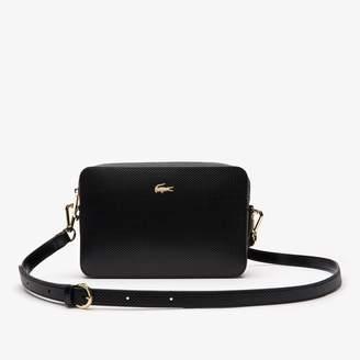 85b35d7e110 Lacoste Women's Chantaco Leather Square Shoulder Bag