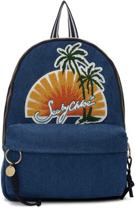 See by Chloé Blue Denim Sunset Backpack $295 thestylecure.com