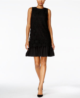 Tommy Hilfiger Floral-Overlay Shift Dress $159 thestylecure.com