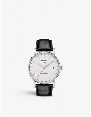 Tissot T109.407.16.031.00 Everytime Swissmatic stainless steel and leather watch