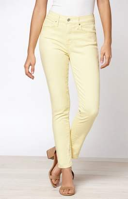 Levi's Yellow 721 High Rise Skinny Ankle Jeans