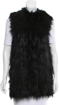 Diane von Furstenberg Taryn Fox Fur Vest w/ Tags
