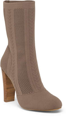 Stretch Knit Mid Calf Boots