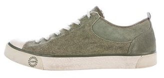 UGG Australia Shearling-Trimmed Lace-Up Sneakers $65 thestylecure.com