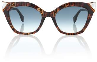 Fendi Iridia logo cat-eye sunglasses