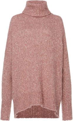 Etoile Isabel Marant Shadow Marled Cable-Knit Turtleneck Sweater Size: