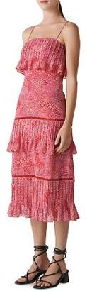 Whistles Printed Tiered Dress