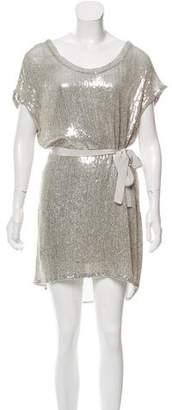 Diane von Furstenberg Sol Silk Embellished Mini Dress