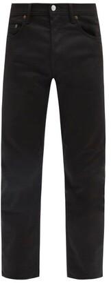 Acne Studios River Cotton Blend Slim Leg Jeans - Mens - Black