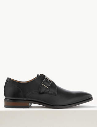 Marks and Spencer Leather Single Strap Monk Shoes