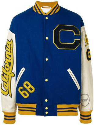 Calvin Klein patch-embellished varsity jacket