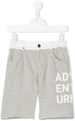 Lapin House printed two-tone shorts