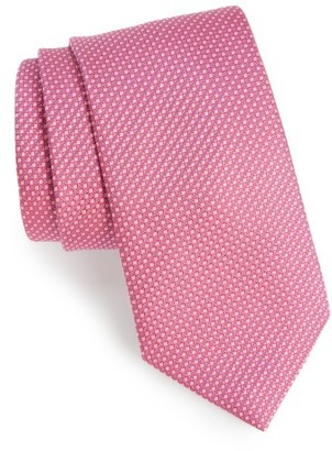 Men's David Donahue Solid Silk Tie $115 thestylecure.com