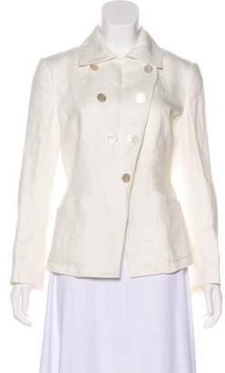 Armani Collezioni Woven Button-Up Blazer