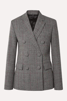 Helmut Lang Prince Of Wales Checked Wool Blazer - Gray