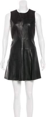 A.L.C. Leather Mini Dress