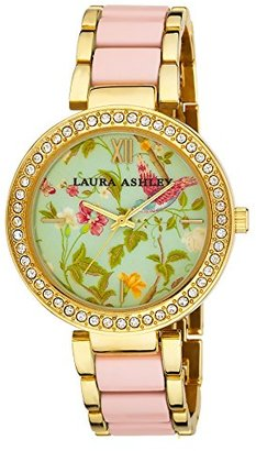 Laura Ashley Women's LA31007PK Analog Display Japanese Quartz Two Tone Watch $59.99 thestylecure.com
