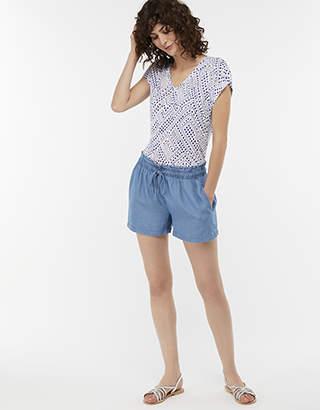 Monsoon Daria Stripe Shorts