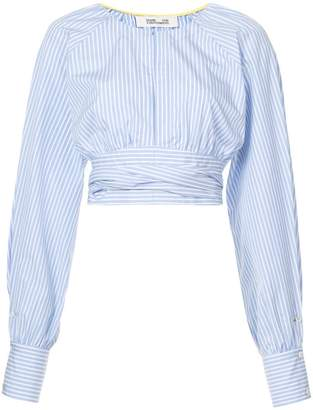 Diane von Furstenberg cinched waist cropped blouse