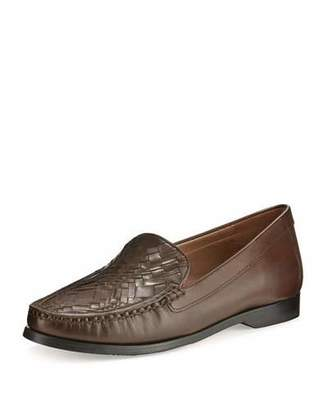 Cole Haan Pinch Woven Leather Loafer, Chestnut $180 thestylecure.com