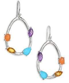 Rock Candy Small Mixed Stone Pear Shaped Earring