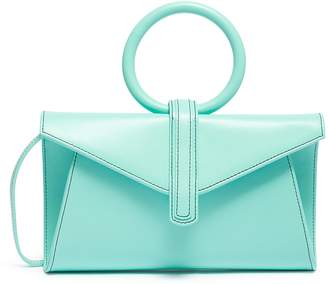 Valery Complét 'Valery' ring handle mini leather envelope clutch